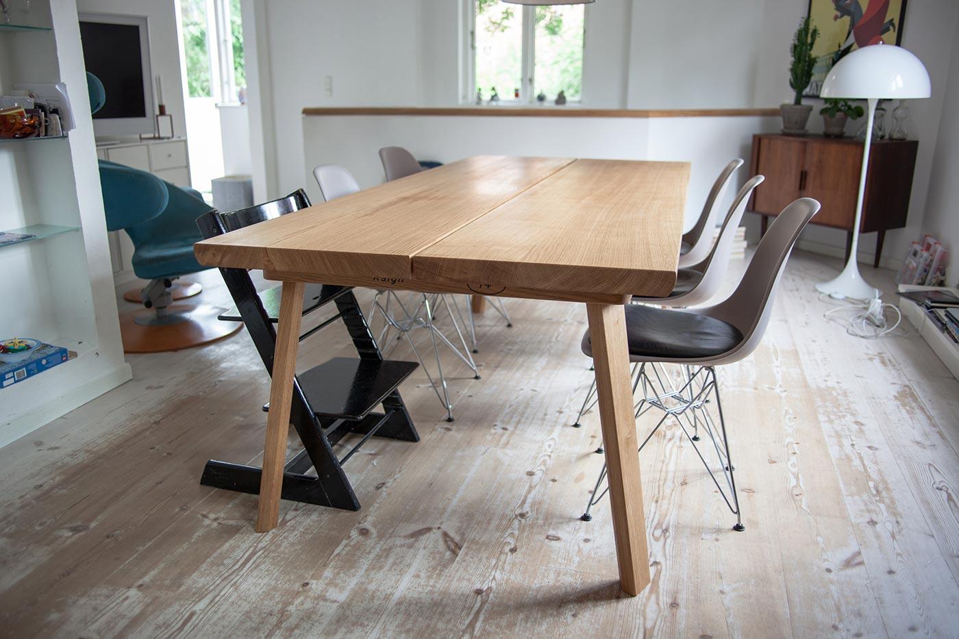 Billede af plankebord fra Ksign hos kunde i København