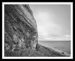 Hanklit på en overskyet dag, sort hvid fotografi